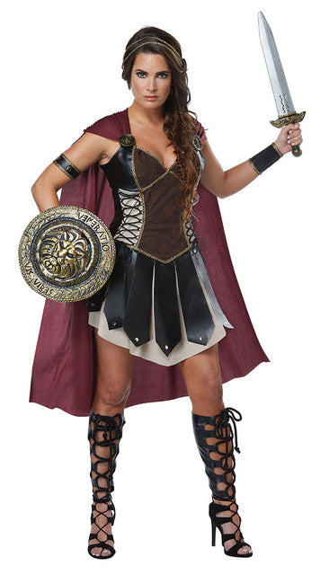 Gladiator Warrior Princess Costume & Cape