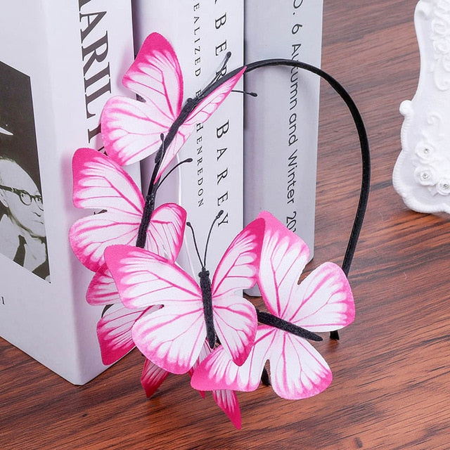 Whimsical Butterfly Headband in 15 Colors