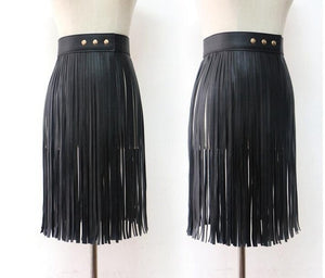 Fringe Skirt in 2 Colors S-L Choose Your Length