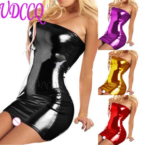 PVC FAUX LEATHER Tube Dress in 8 Colors