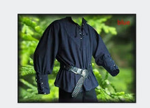 Load image into Gallery viewer, Medieval Renaissance Lace-up Shirt in 5 Colors S-3XL