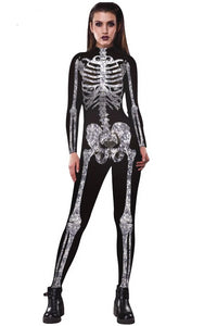 Skeleton Print Costume