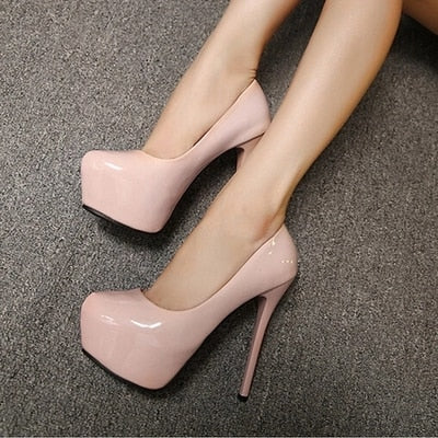 6 Colors Waterproof Platform Super High Stilleto Pumps