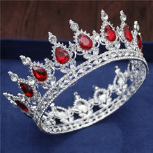 Load image into Gallery viewer, Crystal Vintage Circle Crown Men and Women 17 Styles