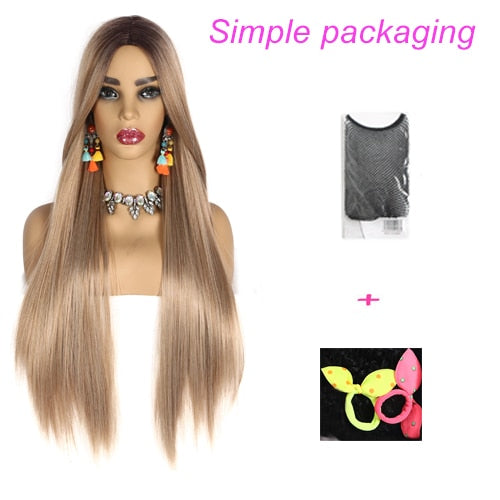 Long Straight Ombre Wig in 8 Colors. 30""
