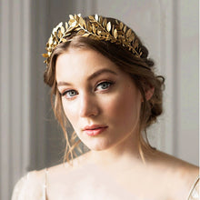 Load image into Gallery viewer, Leaf Style Vintage Cosplay Crown Gold or Silver