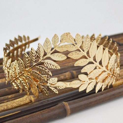 Leaf Style Vintage Cosplay Crown Gold or Silver