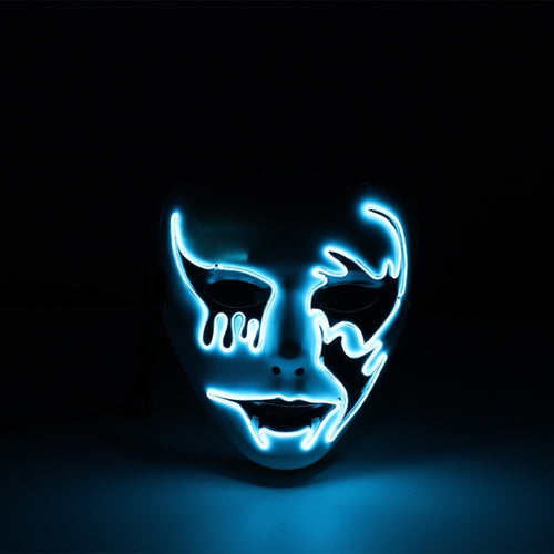 NEON Party Masque in Blue or Green LED Light up