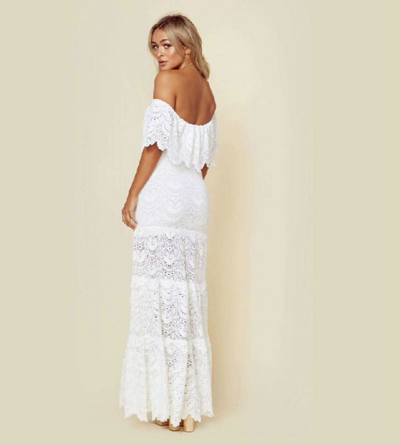 Elegant Embroidered Long Dress S-XL