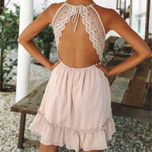 Load image into Gallery viewer, Bohemian Backless Lace Dress in 7 Colors