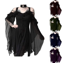 Load image into Gallery viewer, Dark Beauty Irregular Hem Dress in 5 Colors S-5XL