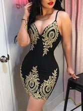 Load image into Gallery viewer, Bodycon Lace Accent Mini-dress