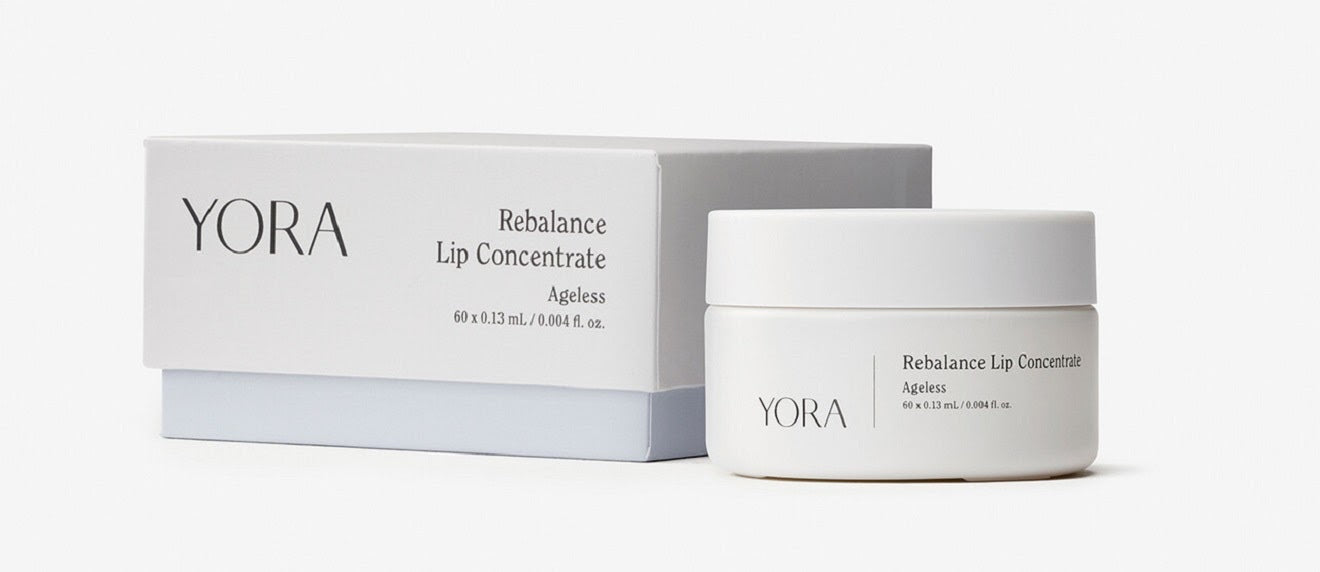 Address dry skin around mouth with YORA Rebalance Lip Concentrate
