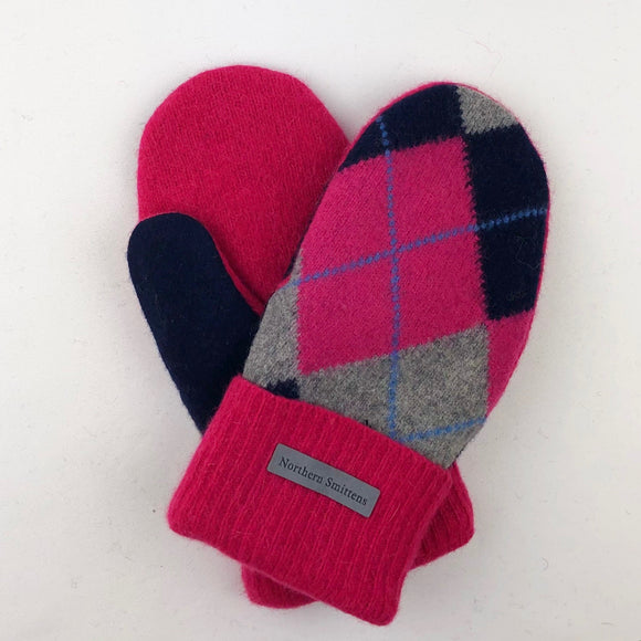 Recycled Wool Sweater Mittens - medium