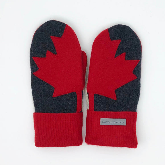 Recycled Wool Canada Mittens