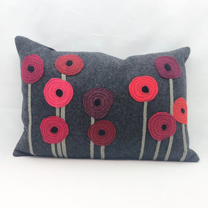Recycled Wool Poppy Pillow