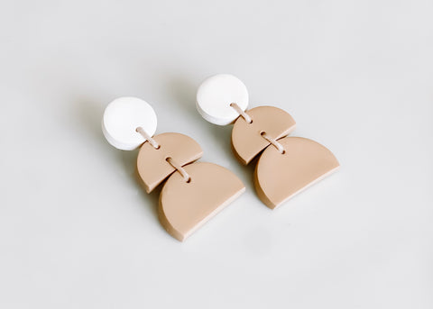 Modern clay earrings