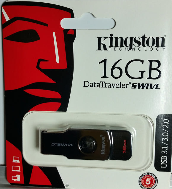 Kingston DataTraveler Swivl 16GB USB 3.1 Flash Drive