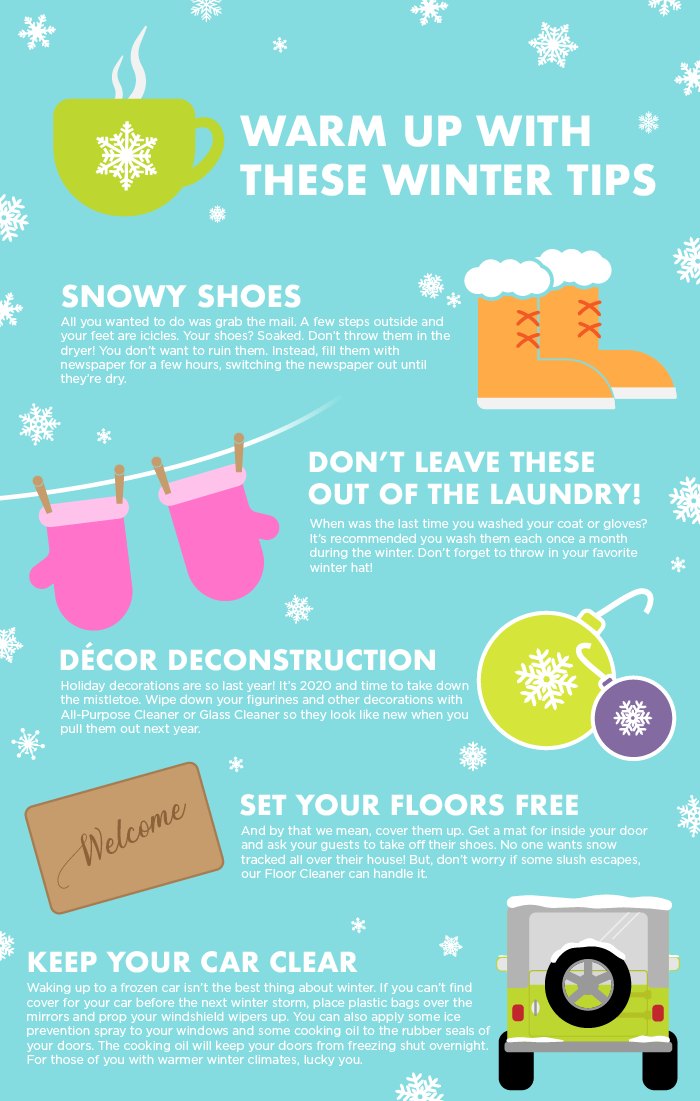 Warm Up with These Winter Tips Infographic
