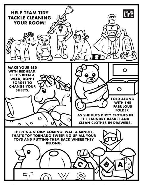 Better Life Team Tidy Coloring Book