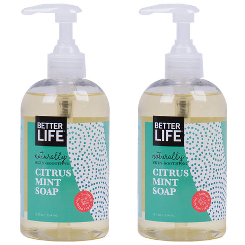 12oz Citrus Mint Hand and Body Soap 2-Pack