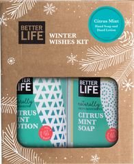 Citrus Mint - Hand and Body Soap and Lotion - Winter Wishes Kit