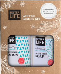 Unscented Hand and Body Soap and Lotion - Winter Wishes Kits