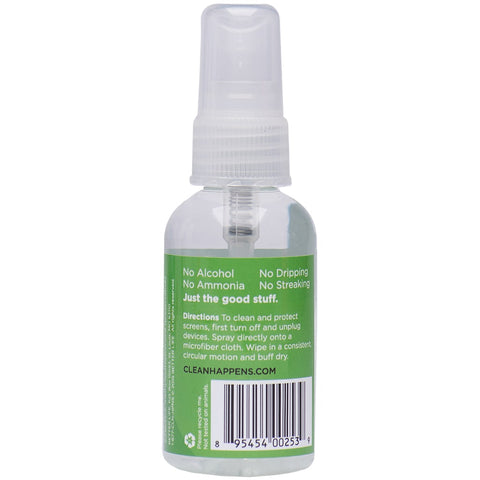2oz Sample Bottle Back - Screen Cleaner
