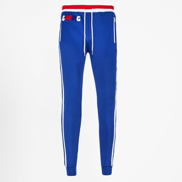 NIPSEY BLUE TRACK BOTTOMS BLUE/WHITE/RED - Gxngclothing
