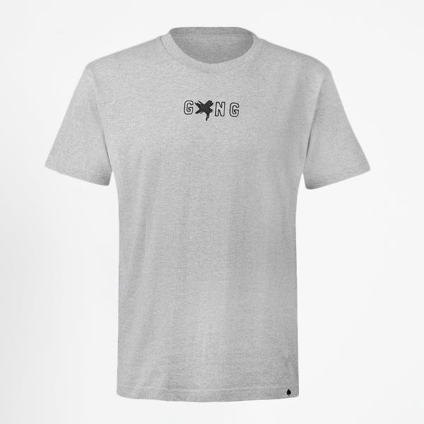 GXNG LOGO TEE GREY/BLACK - Gxngclothing