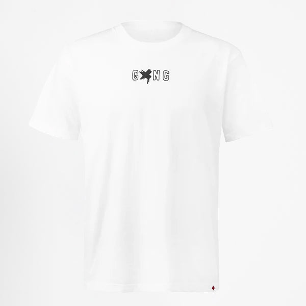 GXNG LOGO TEE WHITE/BLACK - Gxngclothing