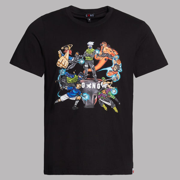 ANIME T-SHIRT - BLACK - Gxngclothing