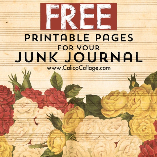 Free Printable Pages for your Junk Journal