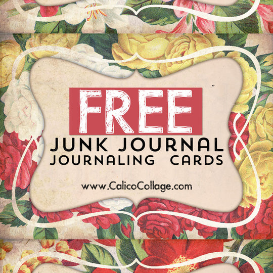 Free Flower Junk Journal Journaling Cards