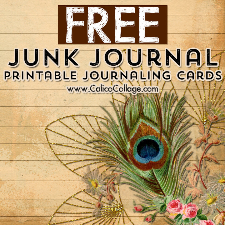 Free Peacock Journaling Cards
