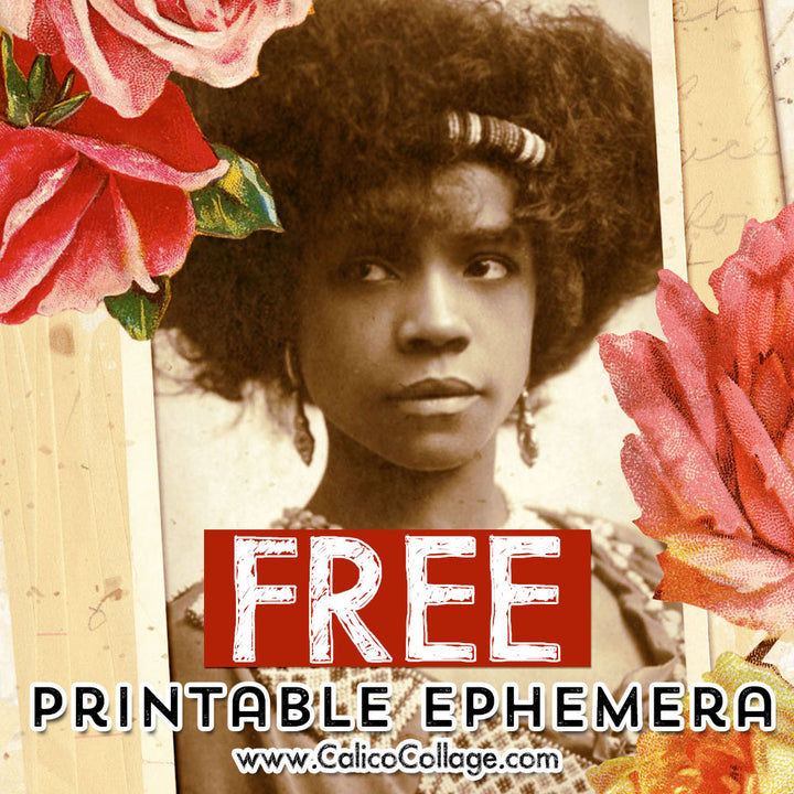 Free Flowers & Ladies Ephemera Tags