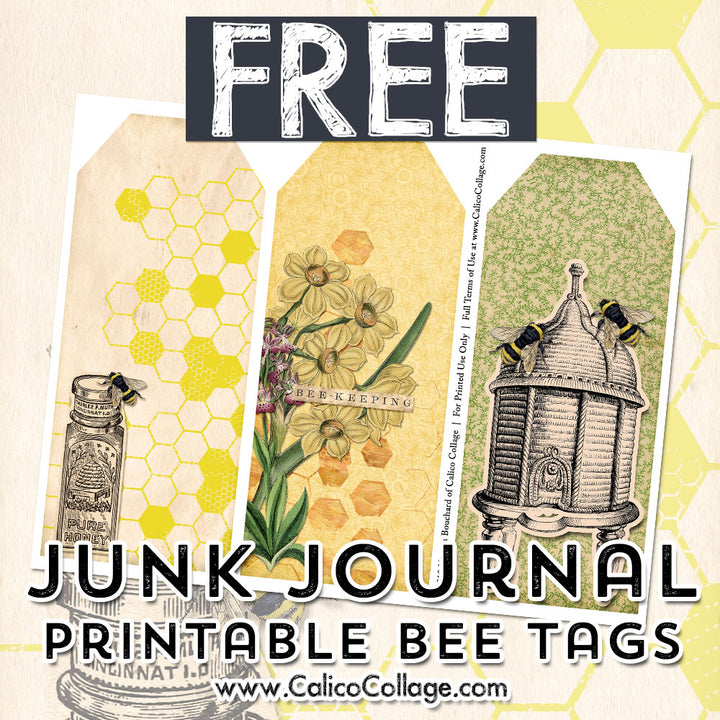 Free The Bee Keeper Printable Tags