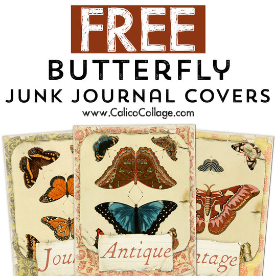 Free Butterfly Junk Journal Covers