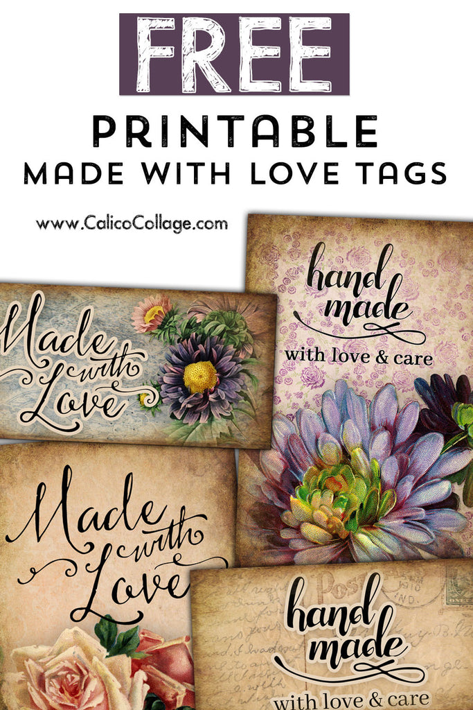 Free Printable Made With Love Tags