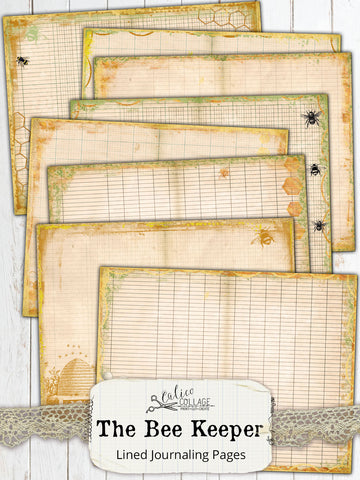 The Bee Keeper Junk Journal Pages