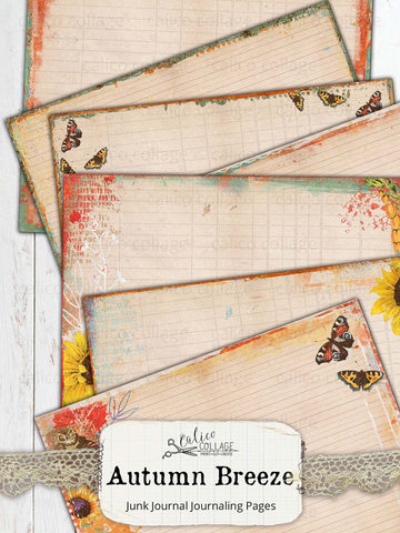 Autumn Breeze Junk Journal Pages