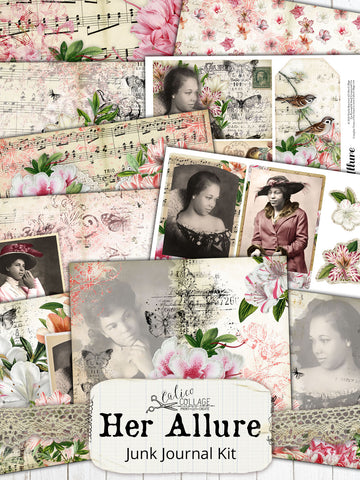 Her Allure African American Junk Journal Kit