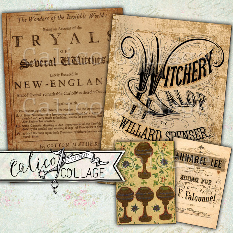 Printable Witch Ephemera Pack