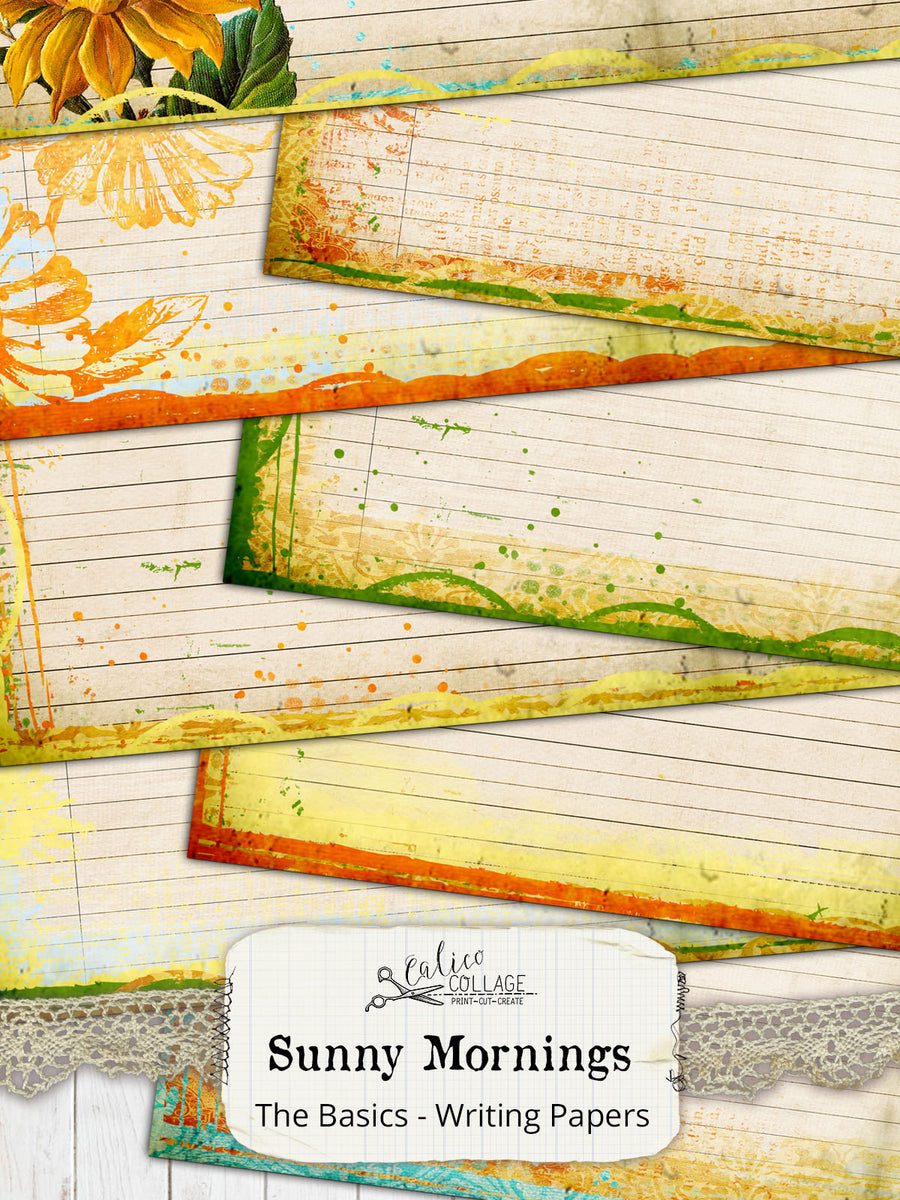 Junk Journal Journaling Pages, Sunny Morning