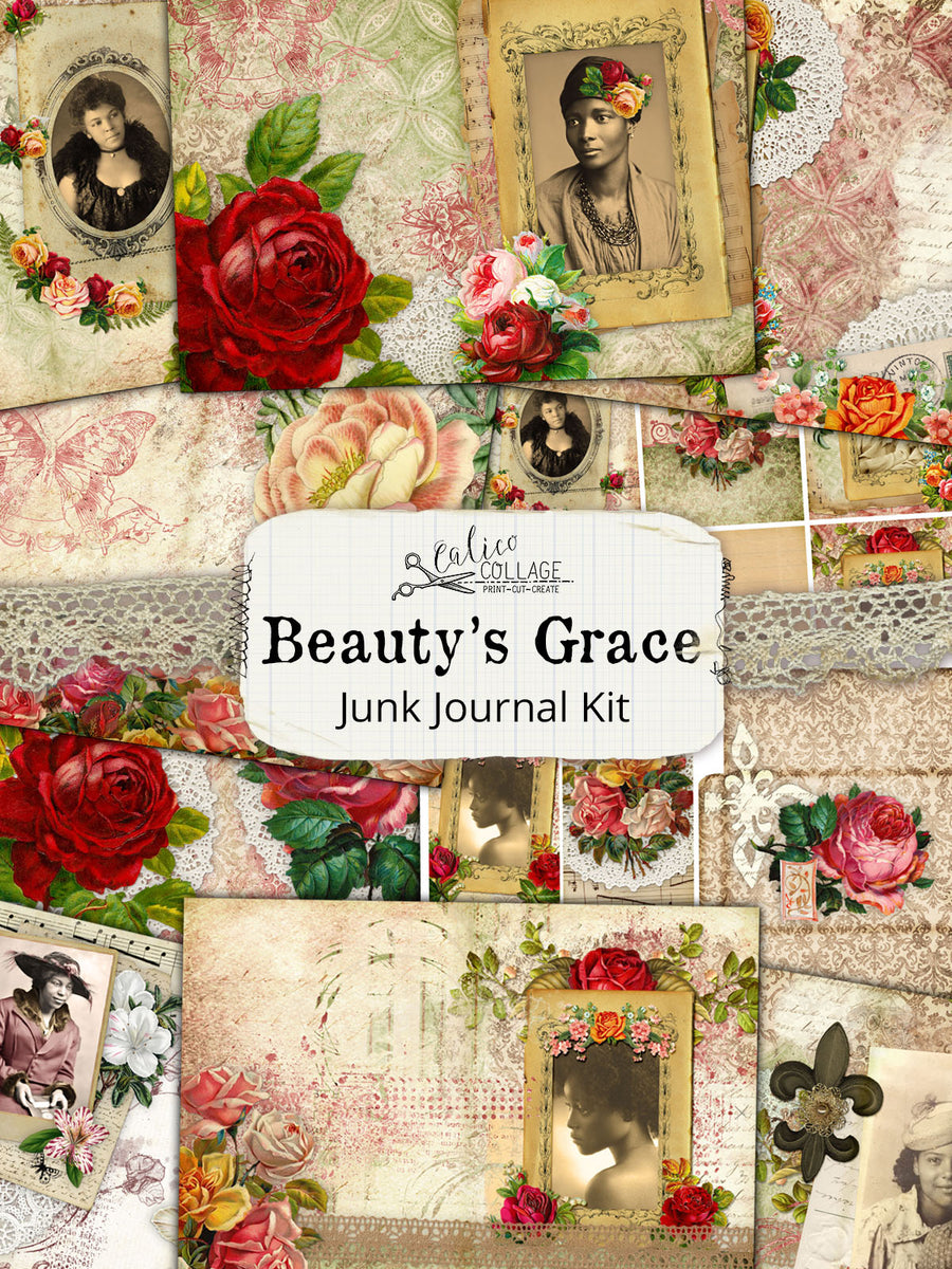 Beauty's Grace African American Junk Journal Kit