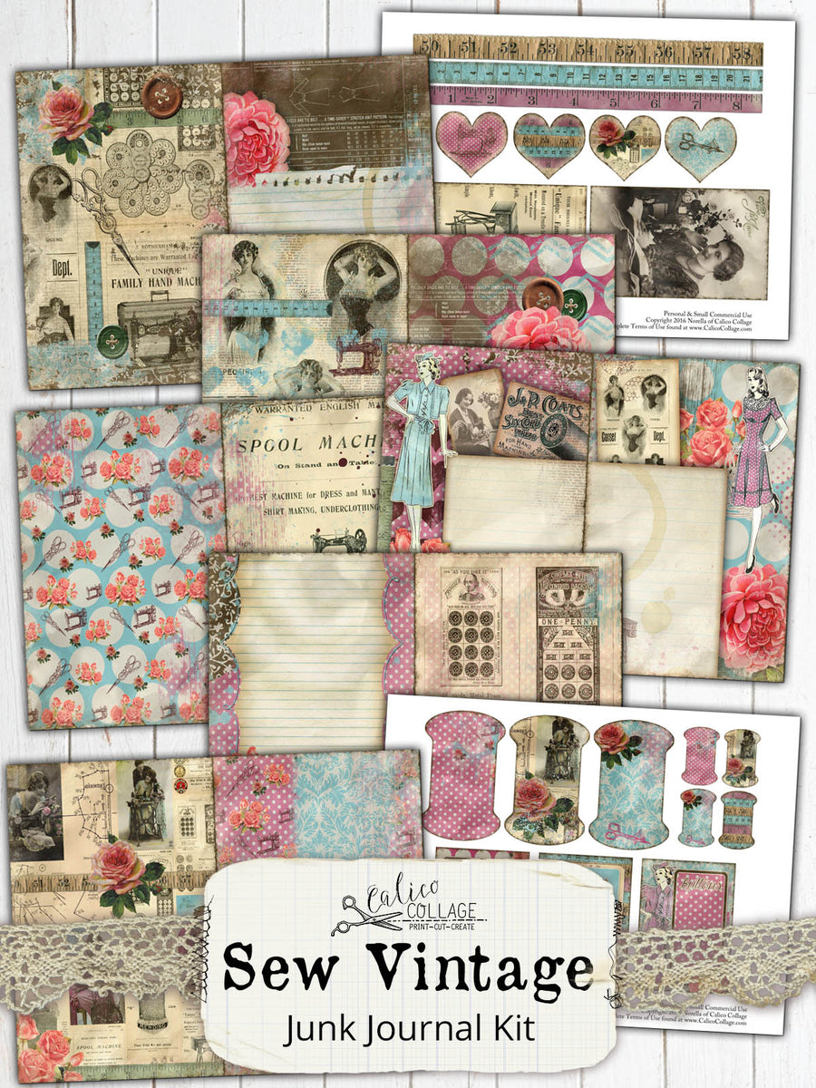 Sew Vintage Junk Journal Kit