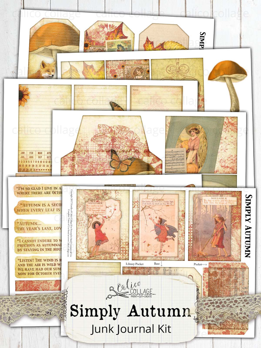 Simply Autumn Printable Journal Kit