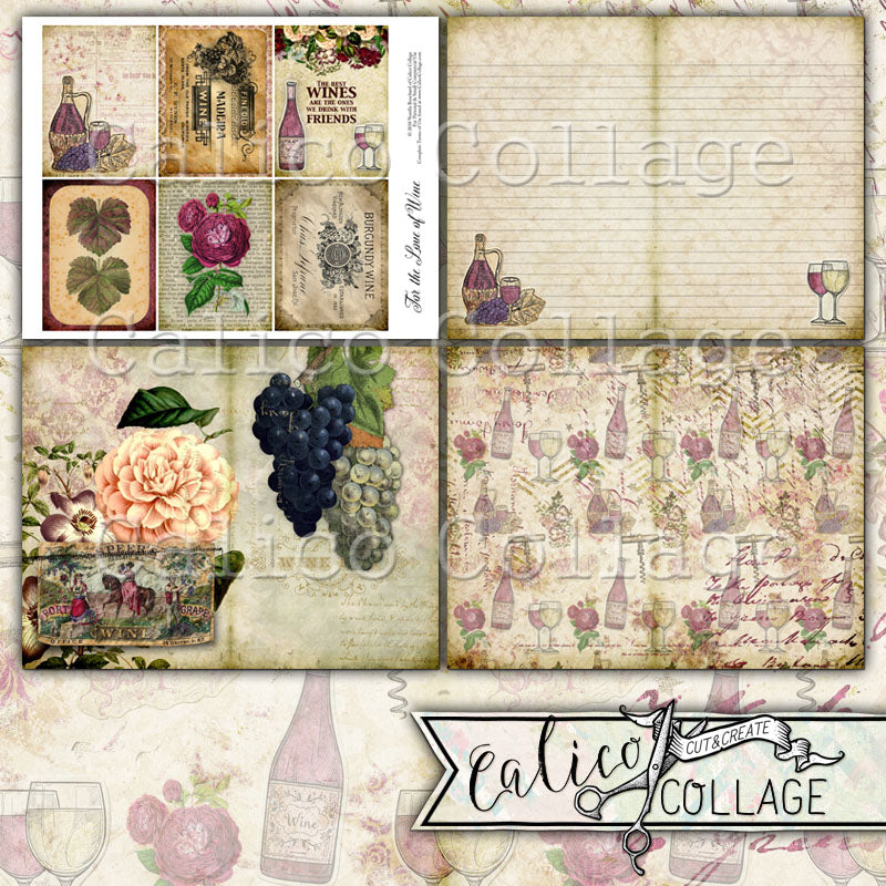 For the Love of Wine Printable Journal Kit