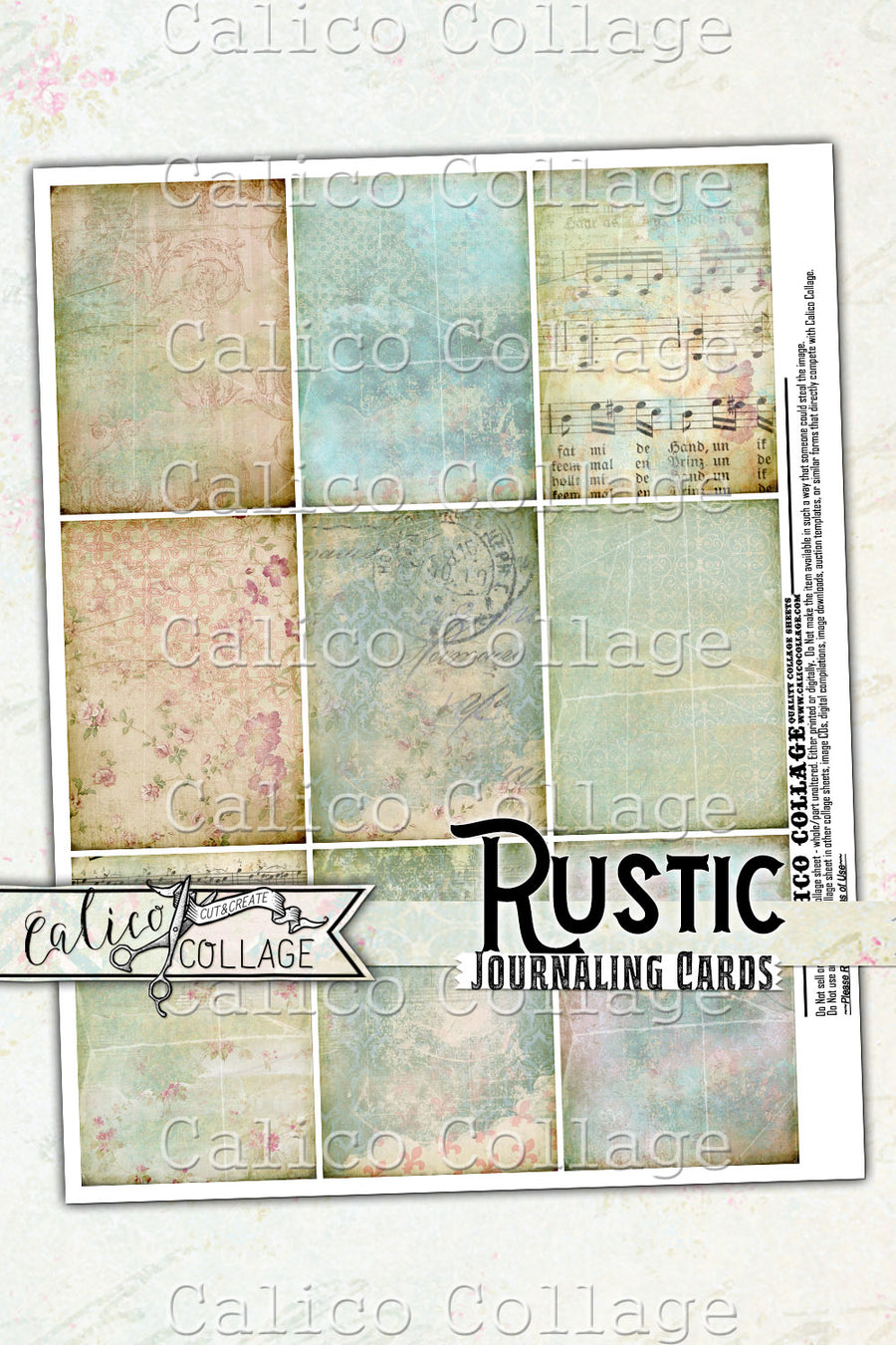 Printable Rustic Journaling Cards