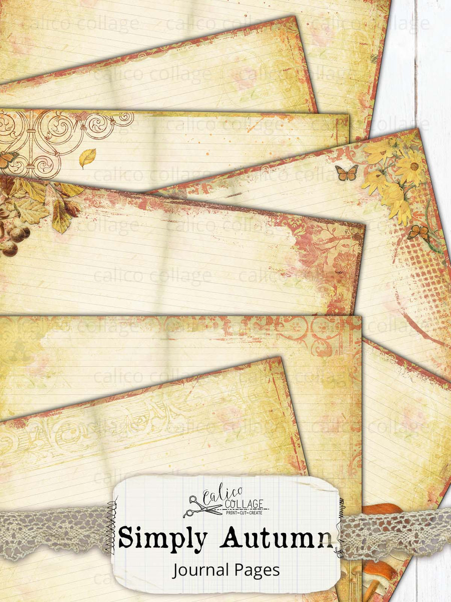 Simply Autumn Junk Journal Pages